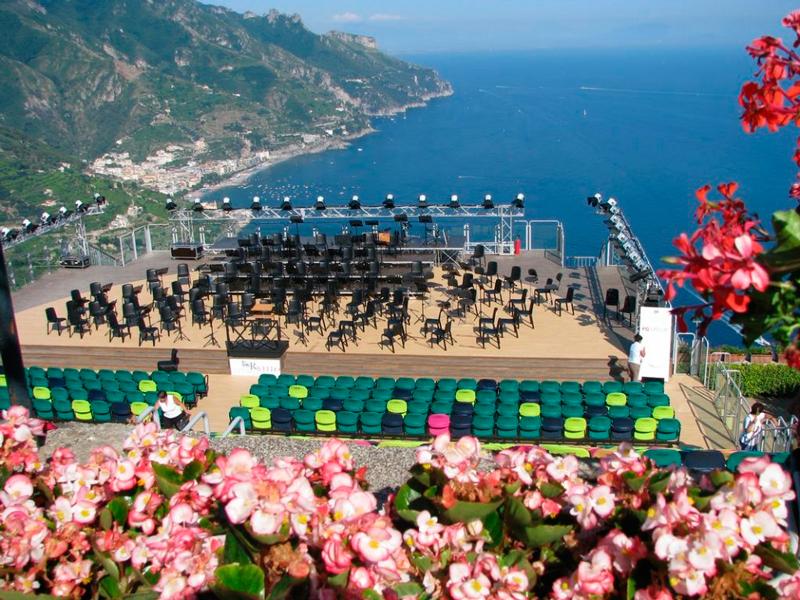 Ravello na Costiera Amalfitana na Itália