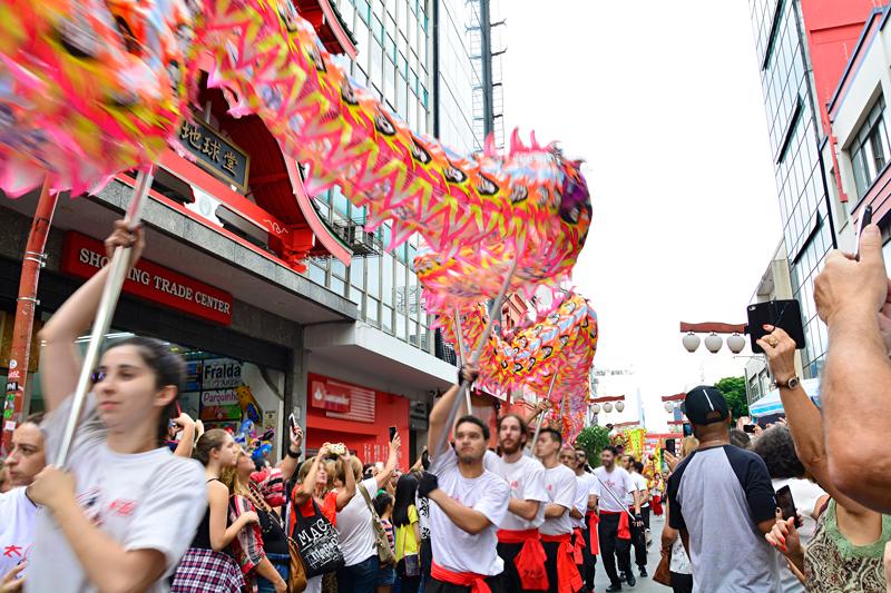 São PAulo: Centro e SUl, Ano Novo Chinês, Bairro da Liberdade, 2018, Ano do Cachorro