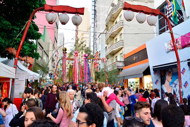 Tanabata Matsuri no Bairro da Liberdade em São Paulo