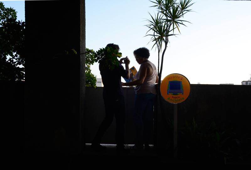 um dos 3 mirantes do Jardim Walter Galera do Edifício Matarazzo e atual Prefeitura de São Paulo