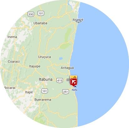 mapa ilheus
