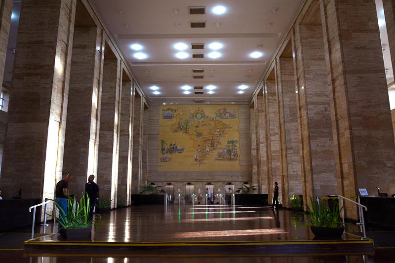 pátio do Edifício Matarazzo e atual Prefeitura de São Paulo