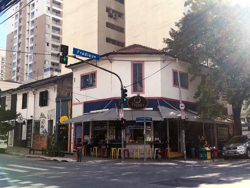 Fachada da Primo Pastificio da Rua Fradique Coutinho