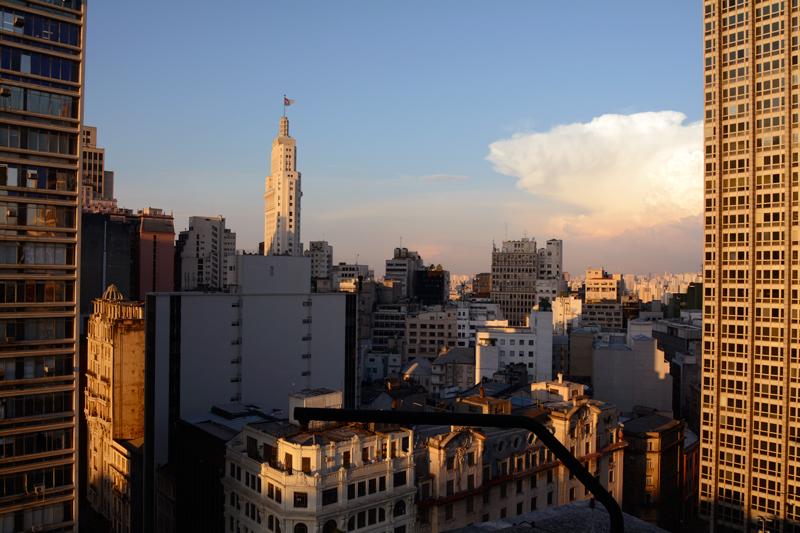 Uma das vistas de um dos 3 mirantes do Jardim Walter Galera do Edifício Matarazzo e atual Prefeitura de São Paulo