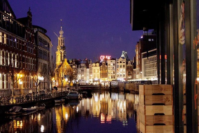 Bloemenmarkt em Amsterdã na Holanda