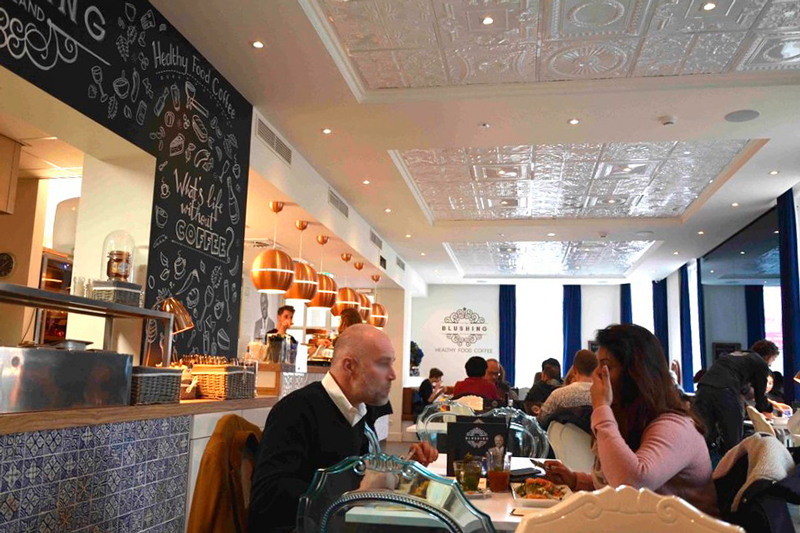 restaurante bistrô Blushing em amsterdã na holanda