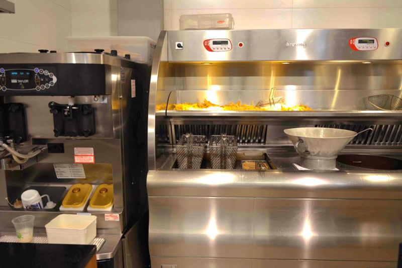 famosas batatas fritas Vlaamse Frites em Amsterdã na Holanda