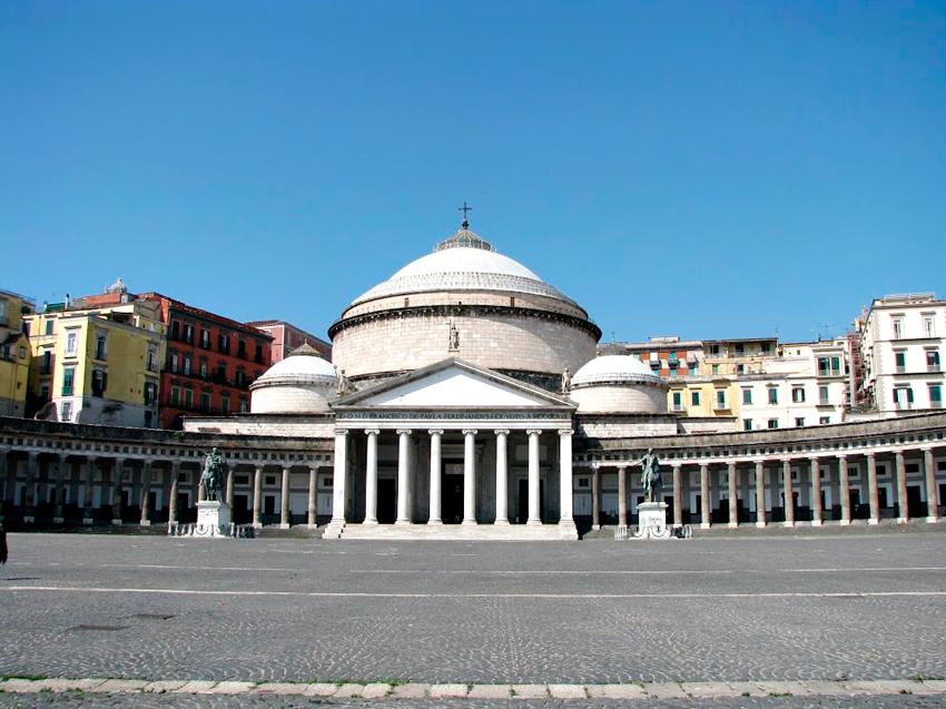 Piazza Plebiscito, Napoli, Italia
