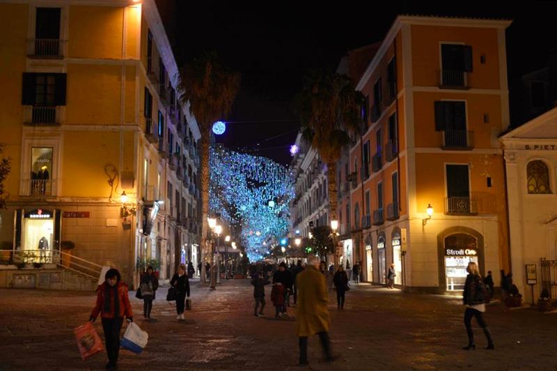 ruas de Salerno na Italia