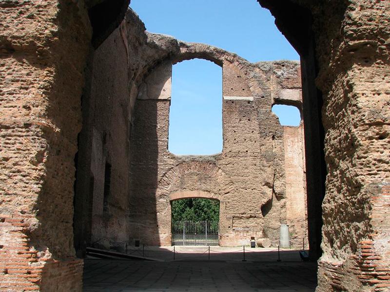 A Terme di Caracalla em Roma na Italia