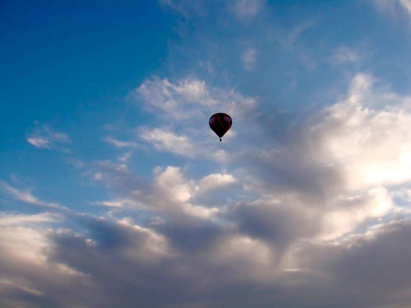 imagem vista do balão do Centro de Paraquedismo e Balonismo em Boituva, São Paulo