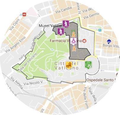 mapa vaticano