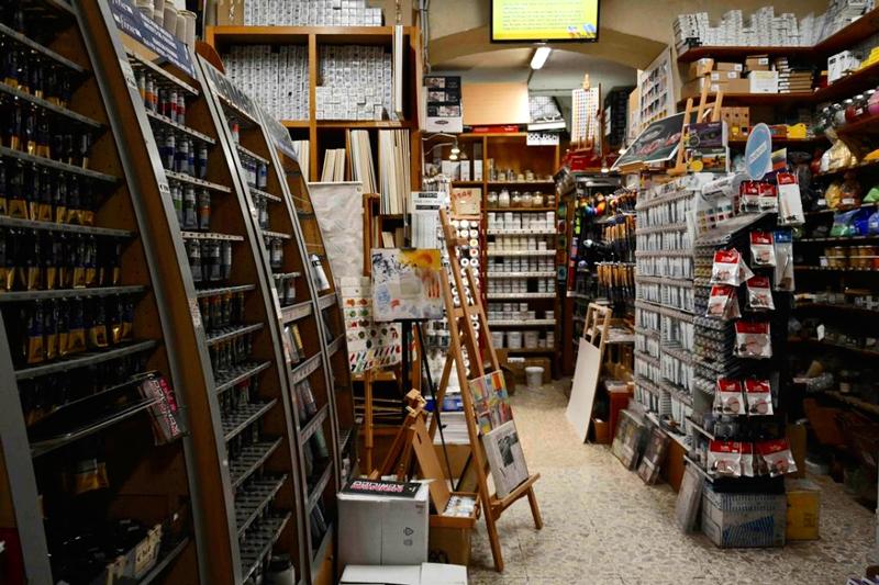 Ditta G. Poggi é uma loja para artistas em Roma