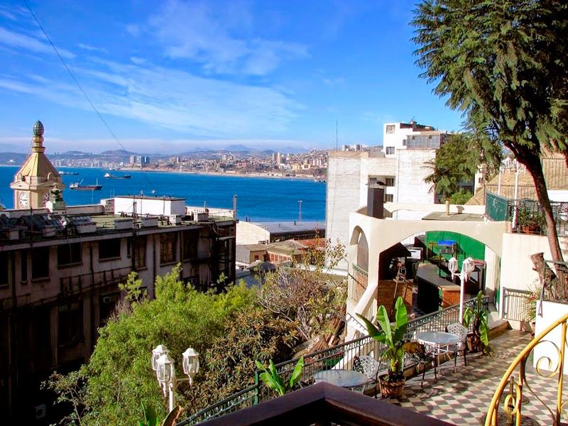 Visão de Valparaíso no chile