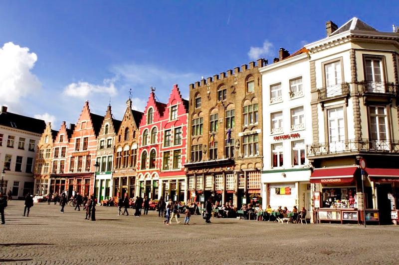 Detalhe do centro de Bruges