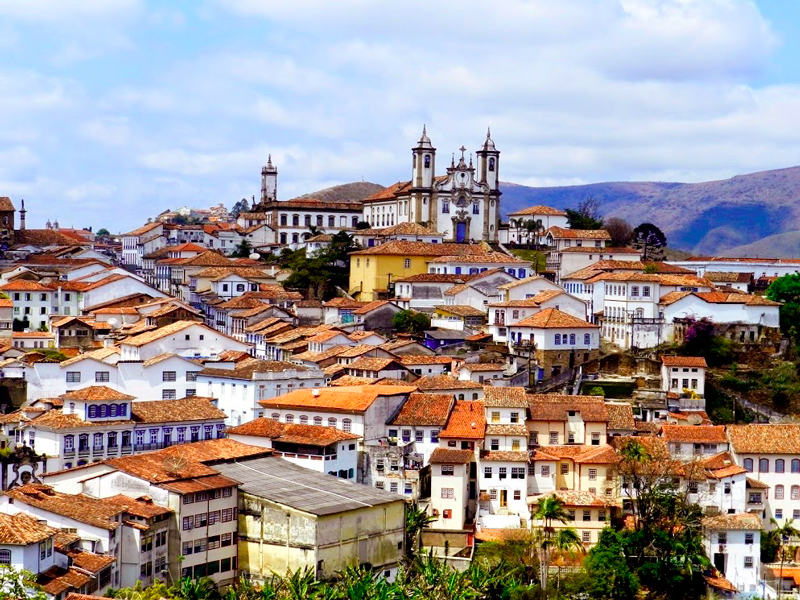 Parte da vista de Ouro Preto