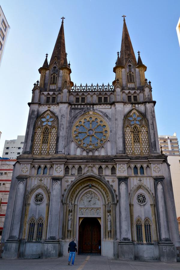 fachada da Basílica Menor Santo Antônio do Embaré em Santos