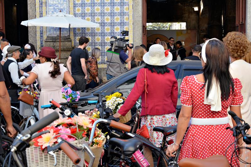 evento vintage na Casa da Frontaria Azulejada em Santos