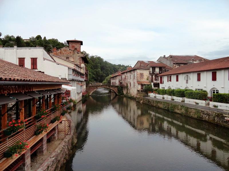 A cidade Saint Jean Pied de Port na França