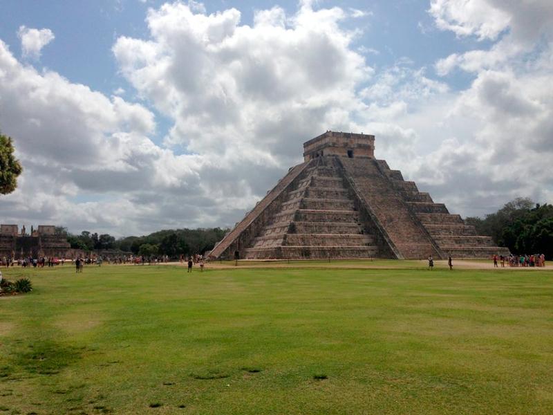 Pirâmide de Yucatan no mexico