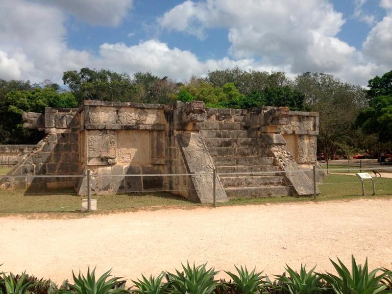 Detalhe de Chichén-Itzá no mexico