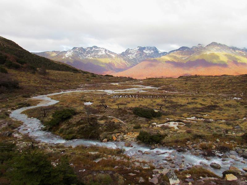 trilha para Laguna Esmeralda em Ushuaia na Argentina