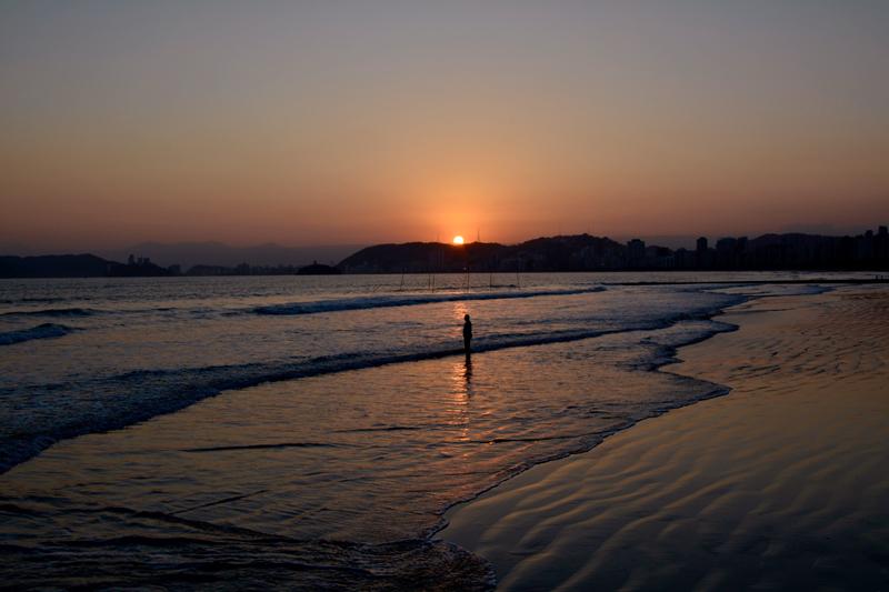 Praia do Embaré em Santos