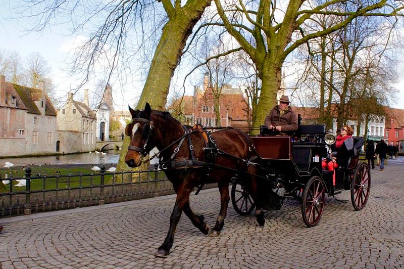 Carruagem em Bruges na Bélgica