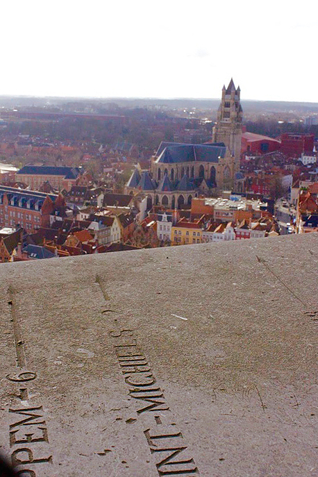 Vista da Belfry em Bruges na Bélgica
