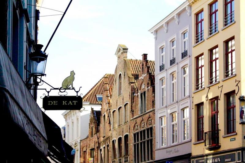 Construções de Bruges na Bélgica