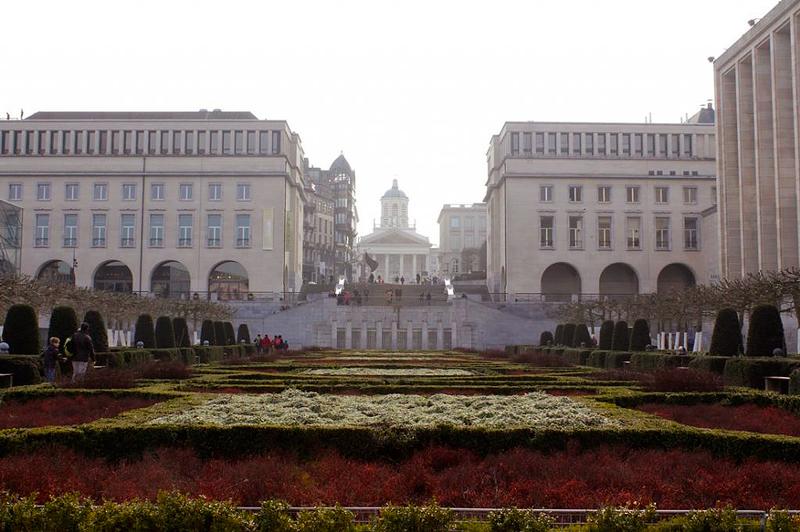 Mont des Arts em Bruxelas na Bélgica
