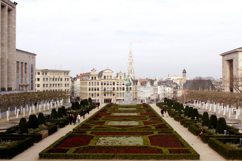 Jardin du Mont des Arts Dicas de Viagem para quem tem pouco tempo em BRUXELAS