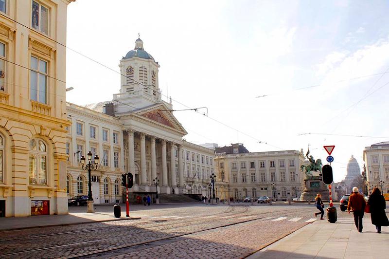 Corte Constitucional na Place Royal em Bruxelas na Bélgica