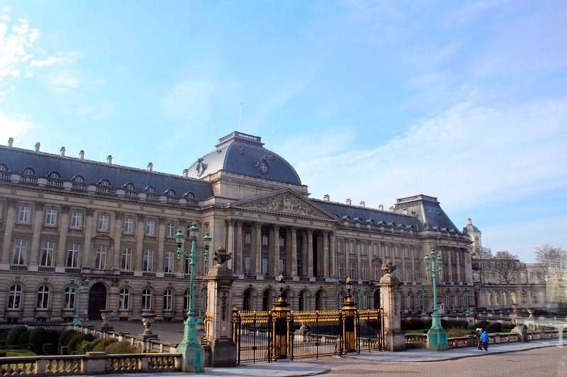 Castelo Real de Laeken em Bruxelas na Bélgica