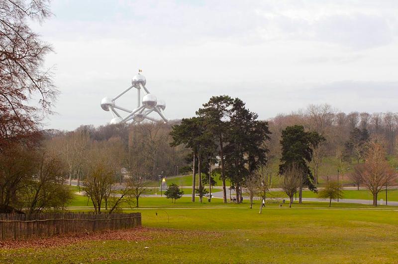 Atomium em Bruxelas na Bélgica