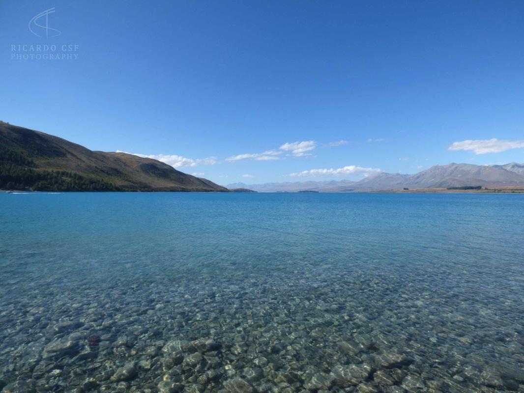 Detalhe da transparência do Lake Tepako