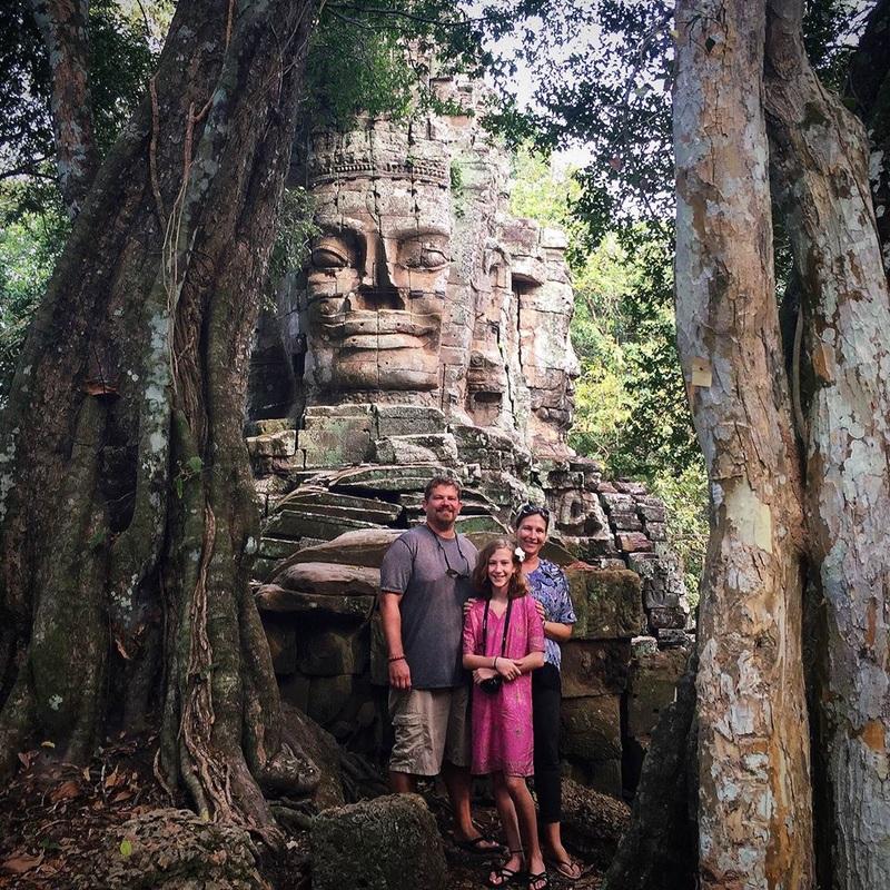 No complexo Angkor, em Siem Reap, Camboja (Fevereiro/2016)