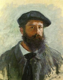 Retrato de Monet, domínio público (Wikipedia)