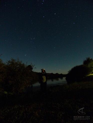 Noite em um camping