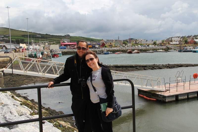 Tati e seu marido em Connemara, Irlanda