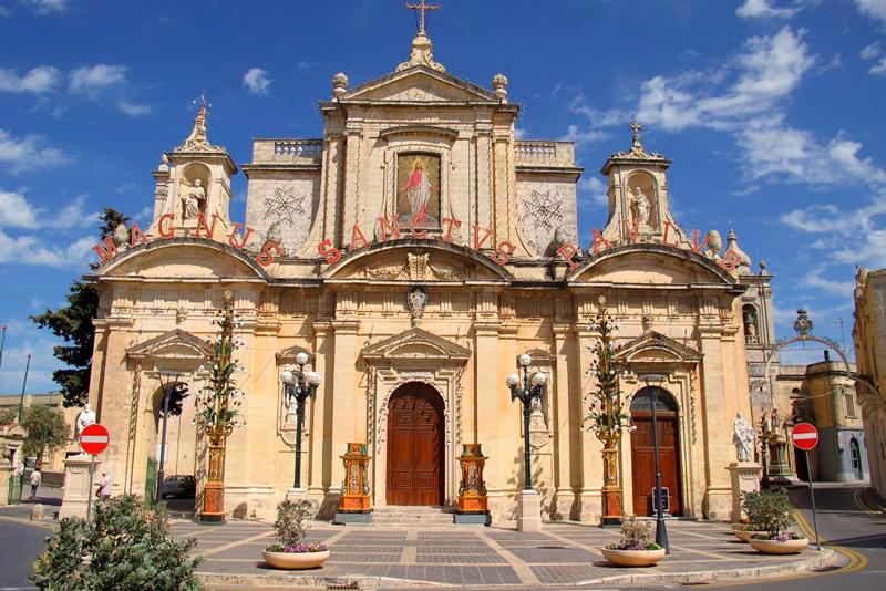 A Igreja de São Paulo em Mdina em Malta