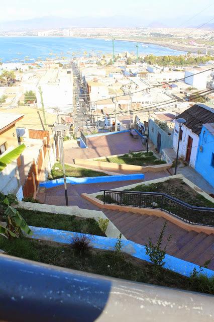Caminho da Cruz del Tercer Milênio até o Porto de Coquimbo