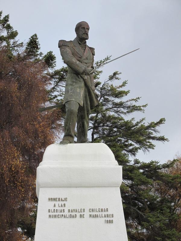 Monumento Hernando de Magallanes, em homenagem aos vitórias navais chilenas, Punta Arenas