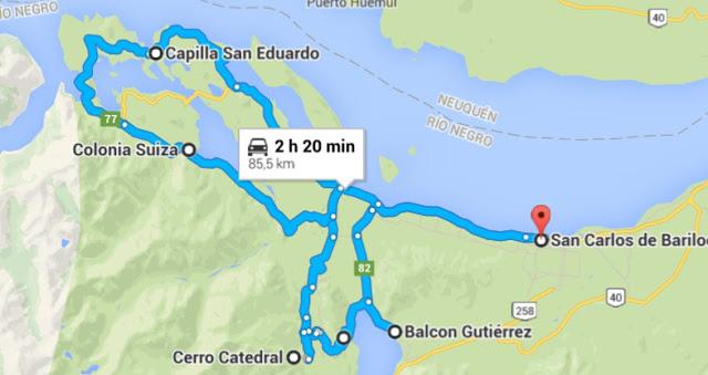 Lago Gutierrez, Cerro Catedral, Circuito Chico e Colonia Suiza