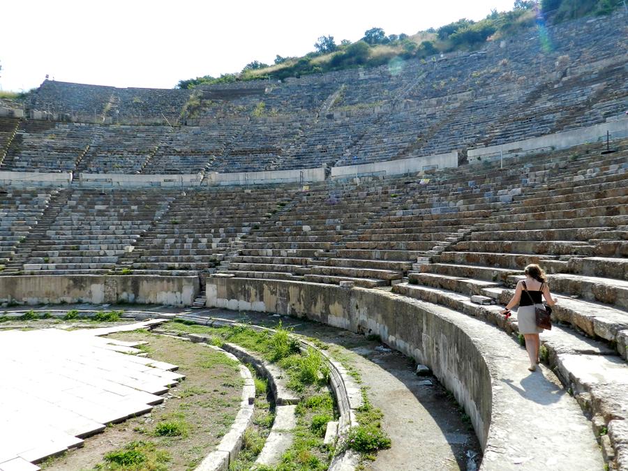 Este e o interior do grande teatro