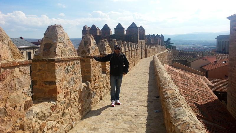 Marcio nos muros da cidade de Ávila