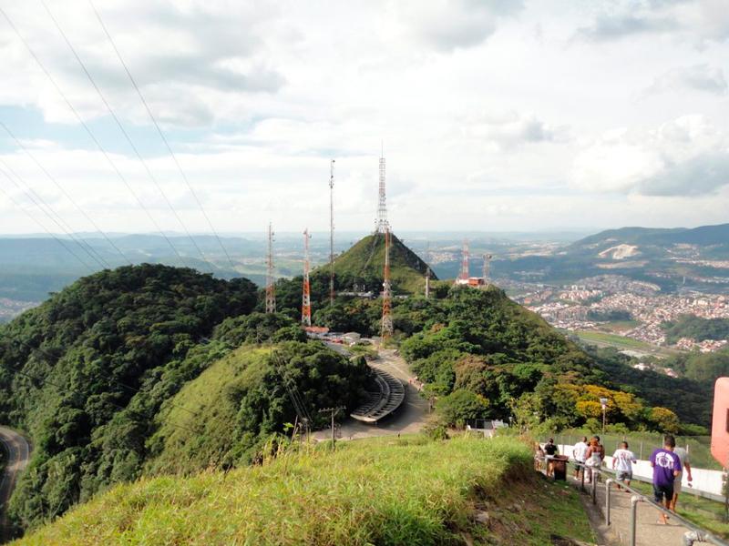 As antenas do Pico do Jaraguá em São Paulo