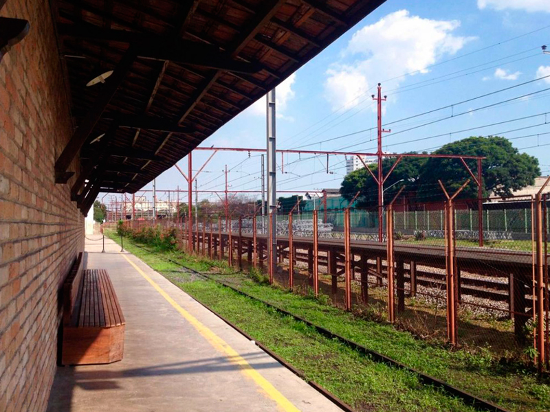 Trilhos do Museu da Imigração em São Paulo