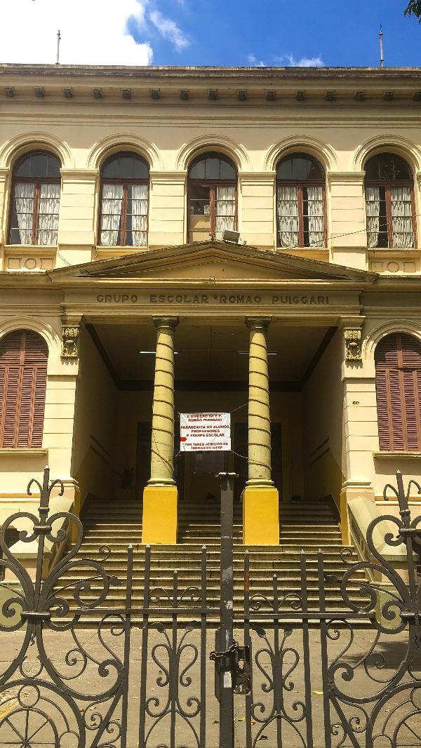 A escola Romão Puiggari no Passeio pelo BRÁS em São Paulo