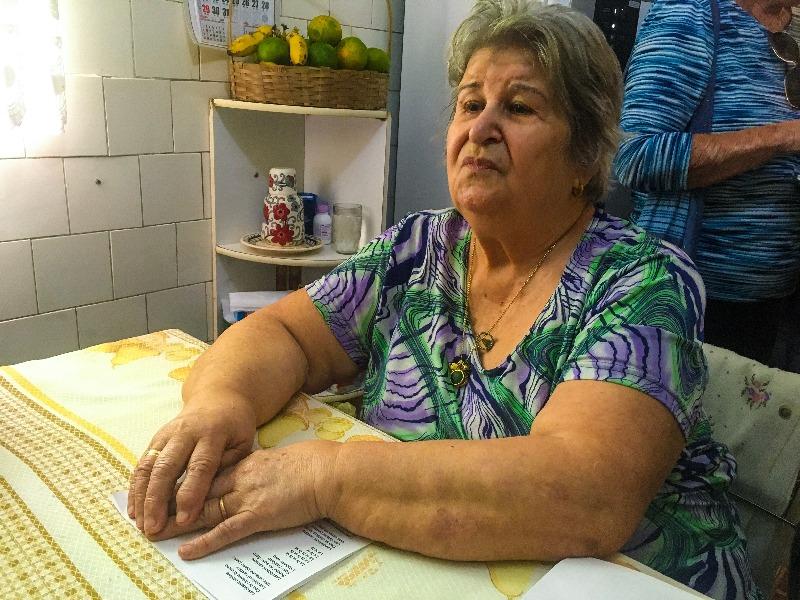 Dona Lisena Montanaro Carrieri Montanaro na sua casa no Passeio pelo BRÁS em São Paulo